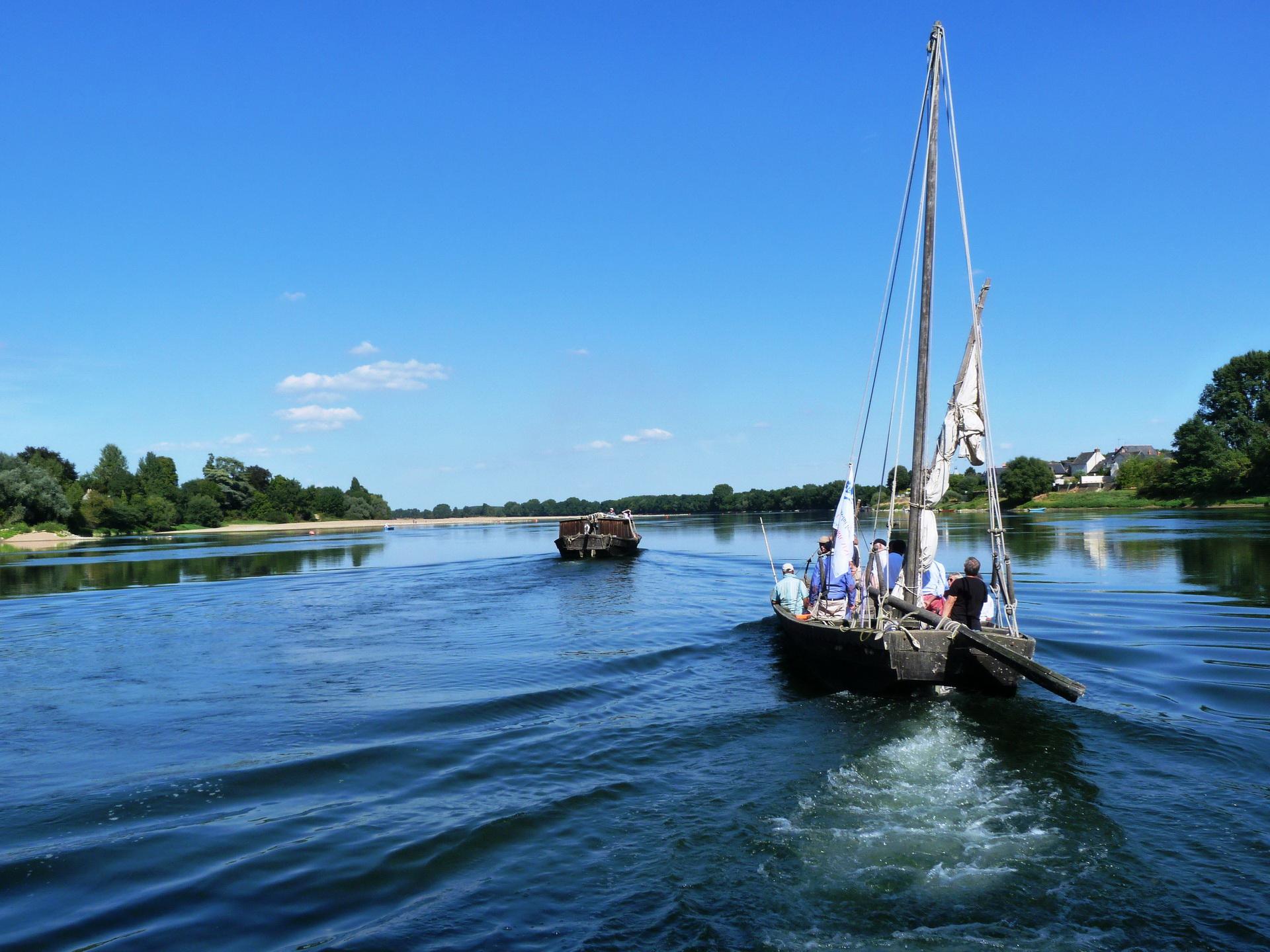 Remontée de la Loire depuis le port de la Possonnière